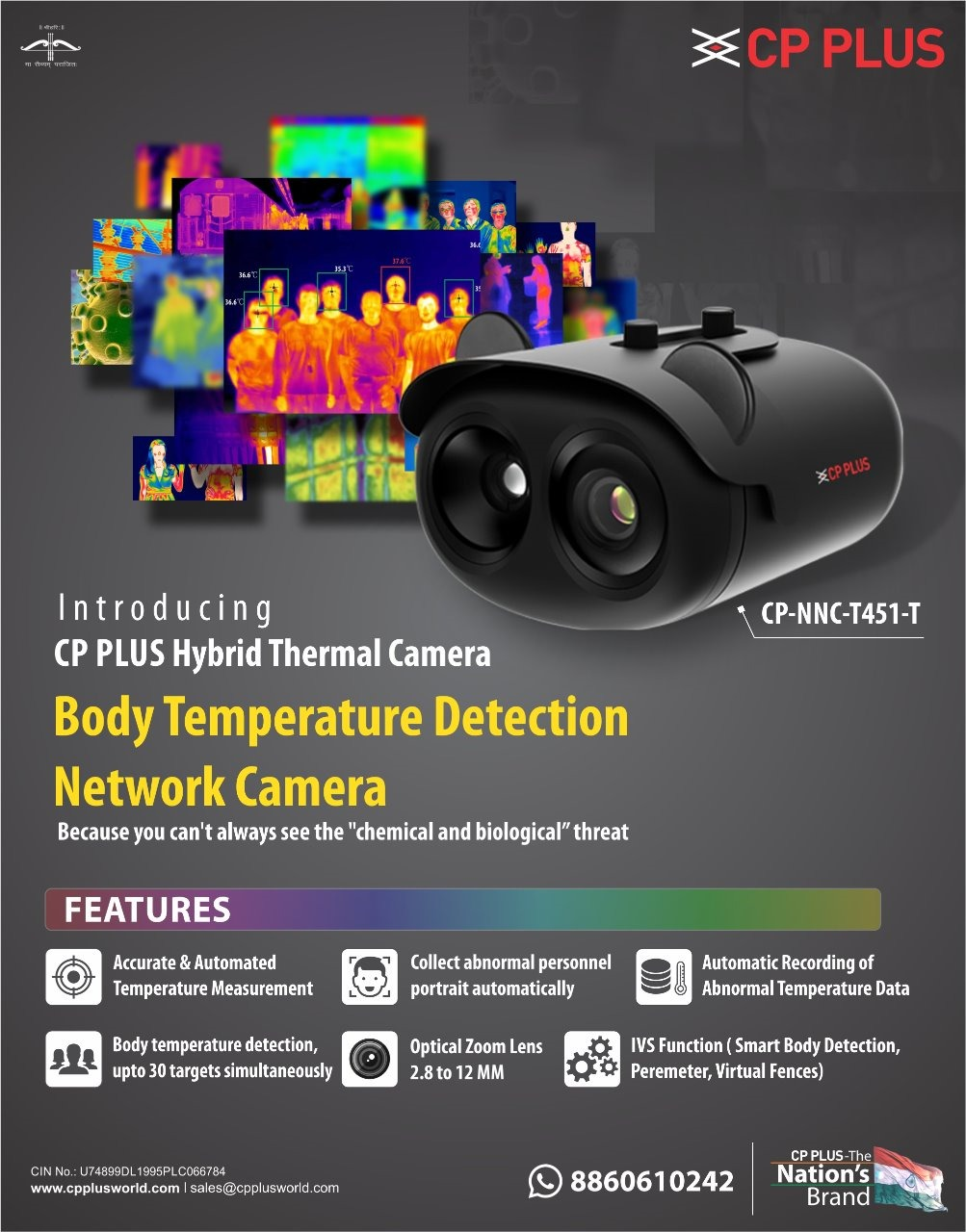 Body Temperature Detection Network Camera